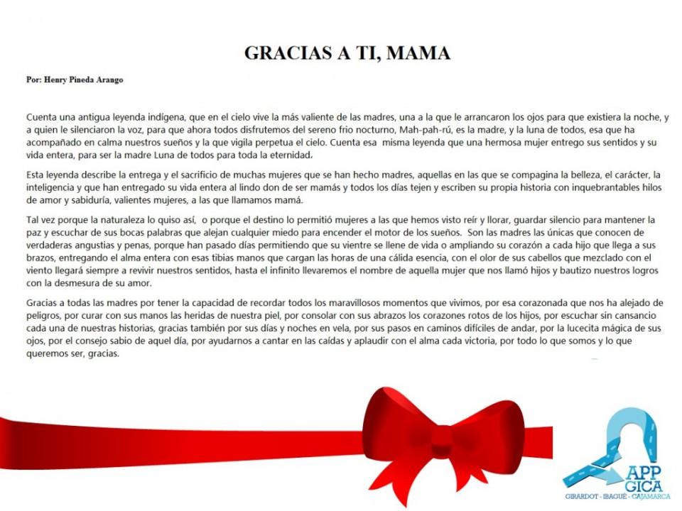 homenaje a las madres app gica
